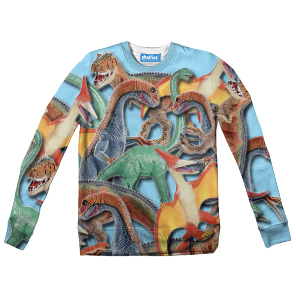 Toy Dinos Youth Sweater-Shelfies-| All-Over-Print Everywhere - Designed to Make You Smile