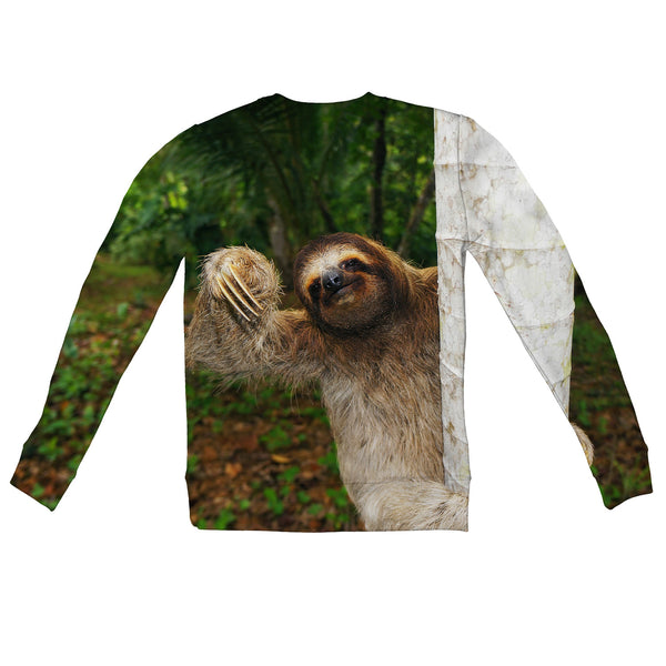 Wuddup Sloth Youth Sweater-Shelfies-| All-Over-Print Everywhere - Designed to Make You Smile
