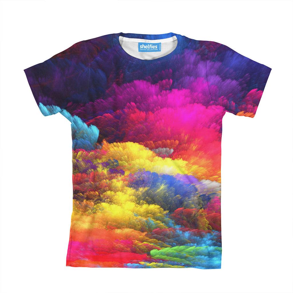 Abstract Colors Youth T-Shirt-kite.ly-| All-Over-Print Everywhere - Designed to Make You Smile