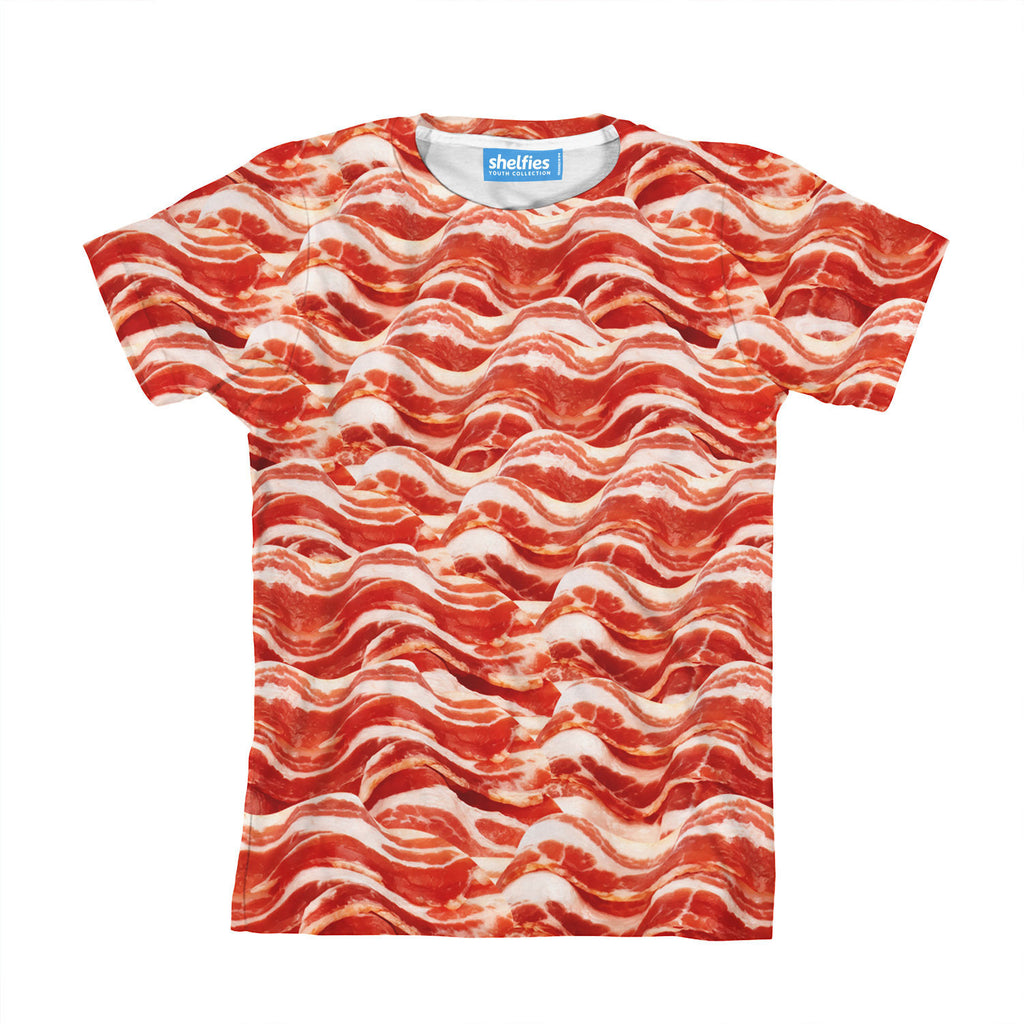 Bacon Invasion Youth T Shirt Shelfies