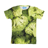 Broccoli Invasion Youth T-Shirt-kite.ly-| All-Over-Print Everywhere - Designed to Make You Smile