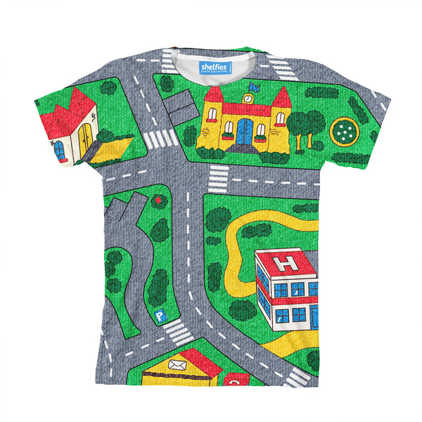 Carpet Track Youth T-Shirt-kite.ly-| All-Over-Print Everywhere - Designed to Make You Smile