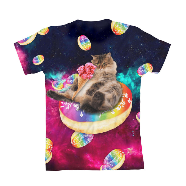 Donut Cat-Astrophy Youth T-Shirt-kite.ly-| All-Over-Print Everywhere - Designed to Make You Smile