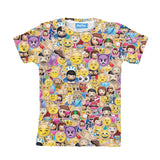 Emoji Invasion Youth T-Shirt-kite.ly-| All-Over-Print Everywhere - Designed to Make You Smile