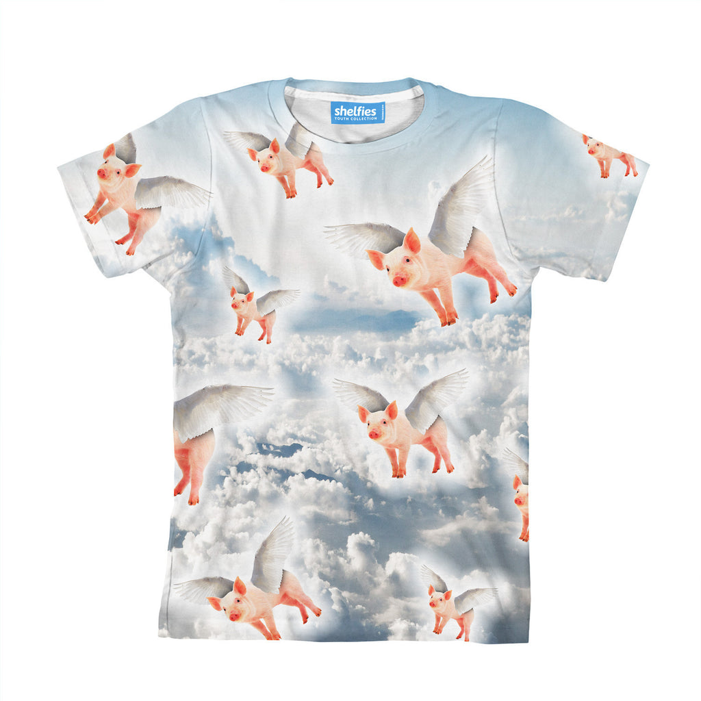 Flying Pigs Youth T-Shirt-kite.ly-| All-Over-Print Everywhere - Designed to Make You Smile