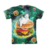 Hamburger Cat Youth T-Shirt-kite.ly-| All-Over-Print Everywhere - Designed to Make You Smile