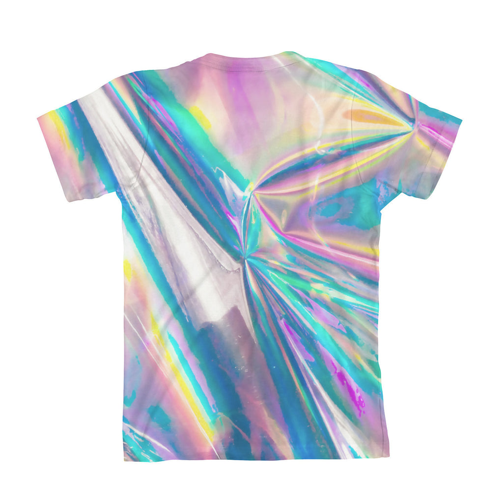 Holographic Foil Youth T Shirt Shelfies