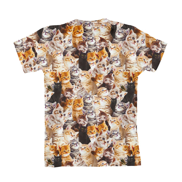 Kitty Invasion Youth T-Shirt-kite.ly-| All-Over-Print Everywhere - Designed to Make You Smile