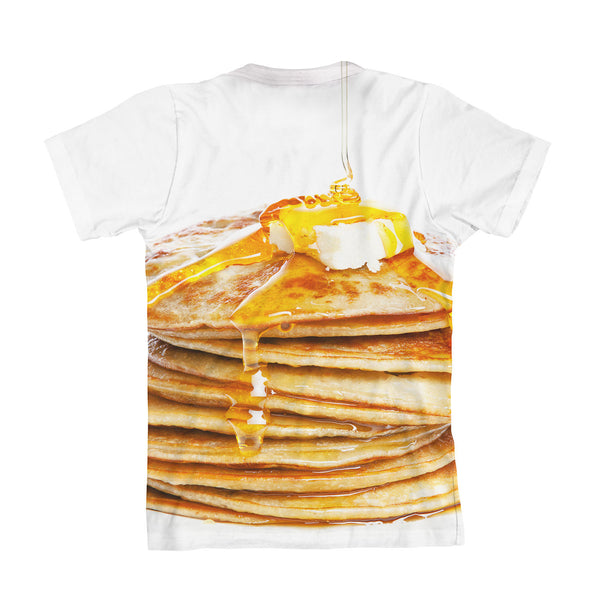 Pancakes Youth T-Shirt-kite.ly-| All-Over-Print Everywhere - Designed to Make You Smile