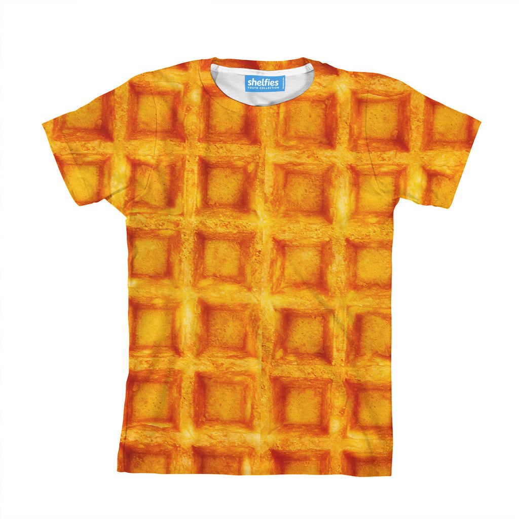 Waffle Invasion Youth T-Shirt-kite.ly-| All-Over-Print Everywhere - Designed to Make You Smile