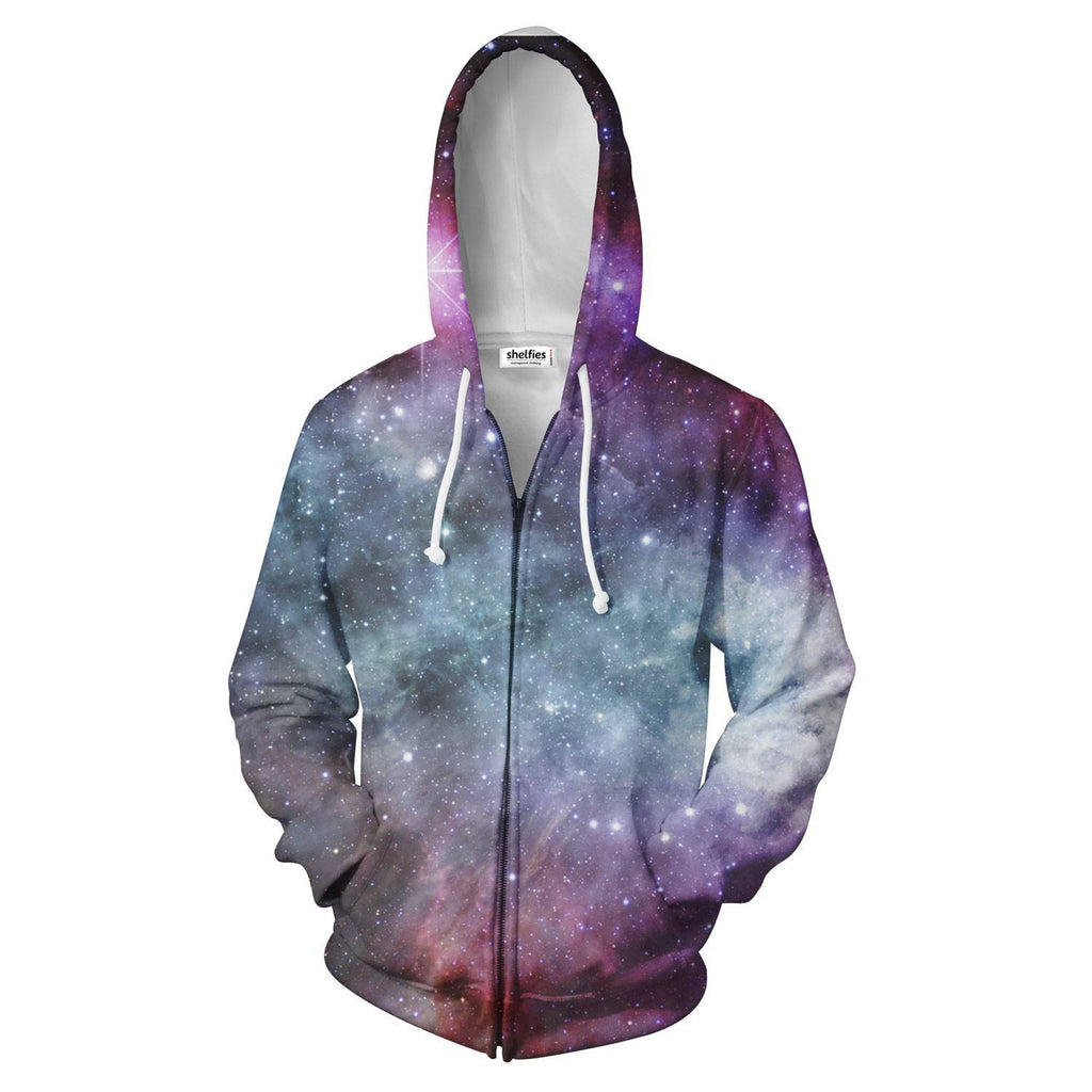 Galaxy Love Zip Hoodie - Shelfies | All-Over-Print Everywhere - Designed to Make You Smile