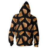 Grilled Cheese Zip Hoodie-Shelfies-XS-| All-Over-Print Everywhere - Designed to Make You Smile