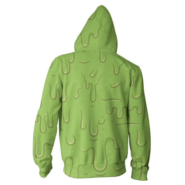 Slime Zip Hoodie-Shelfies-XS-| All-Over-Print Everywhere - Designed to Make You Smile