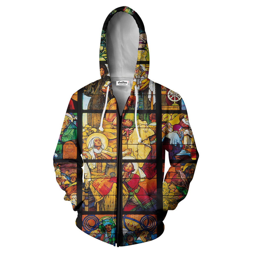Zip Hoodies - Stained Glass Zip Hoodie