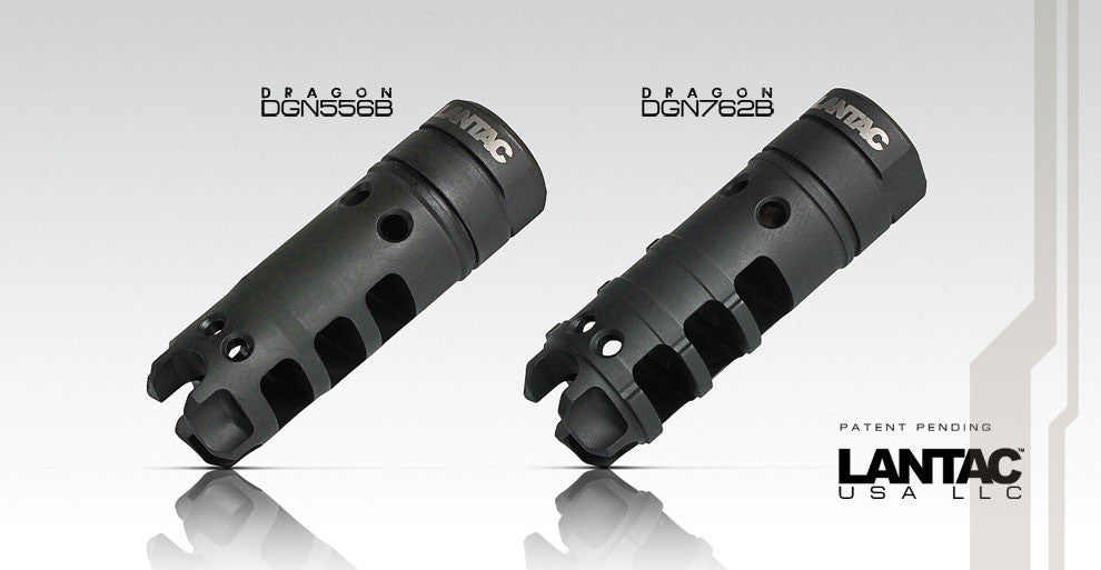 LANTAC Dragon Muzzle Brake DGN762B for AR10, AR 308 Style Rifles
