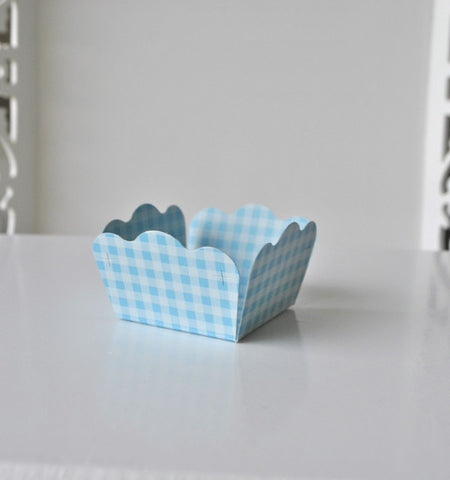 Gingham Baby Blue Sweet Box