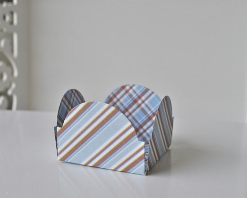 Stripe Brown and Blue Sweet Box
