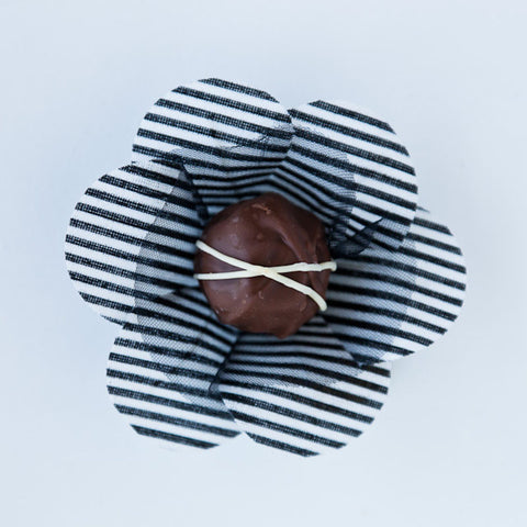 Clarisse Stripe Black & White Truffle Wrapper