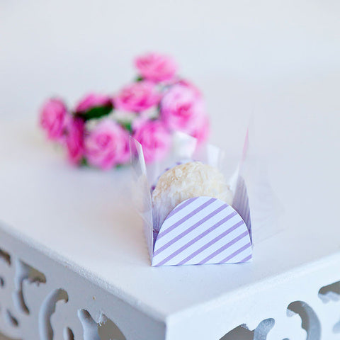 Stripe Lavender & White sweet Box