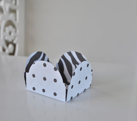 Black Polka Zebra Sweet Box