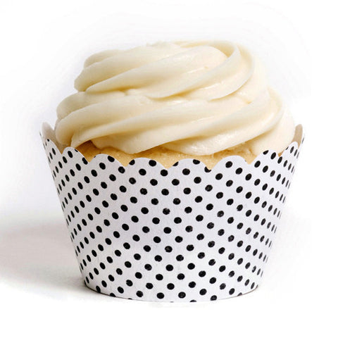 Black and White Cupcake Wrapper