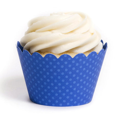 Royal Blue Cupcake Wrapper