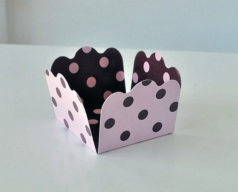 Polka Pink and Brown Sweet Box