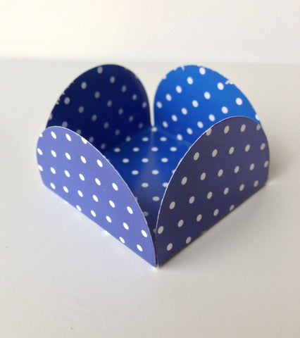 Royal Blue Polka Sweet Box