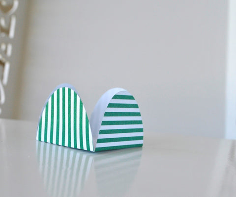 Stripe Green Sweet Box