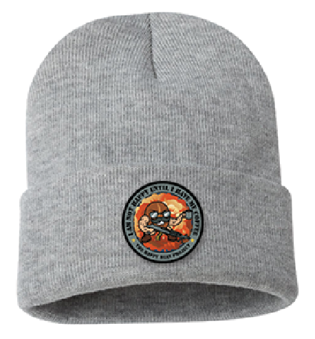 M240 Light Grey Beanie Color Patch