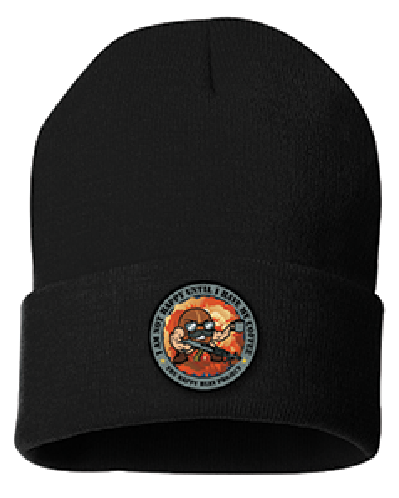 M240 Black Beanie Color Patch