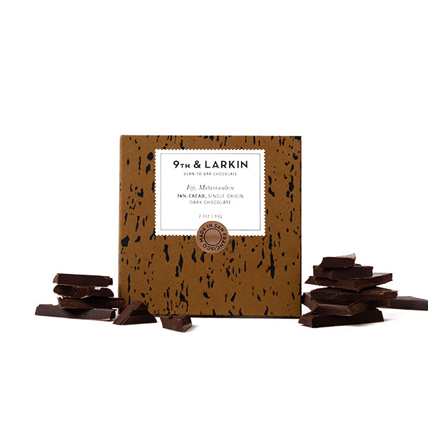 9th & Larkin, Matasawalevu Fiji 74% Cacao Dark Chocolate Bar