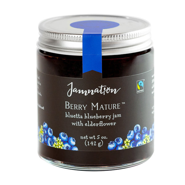 Jamnation, 'Berry Mature' Blueberry Jam with Elderflower