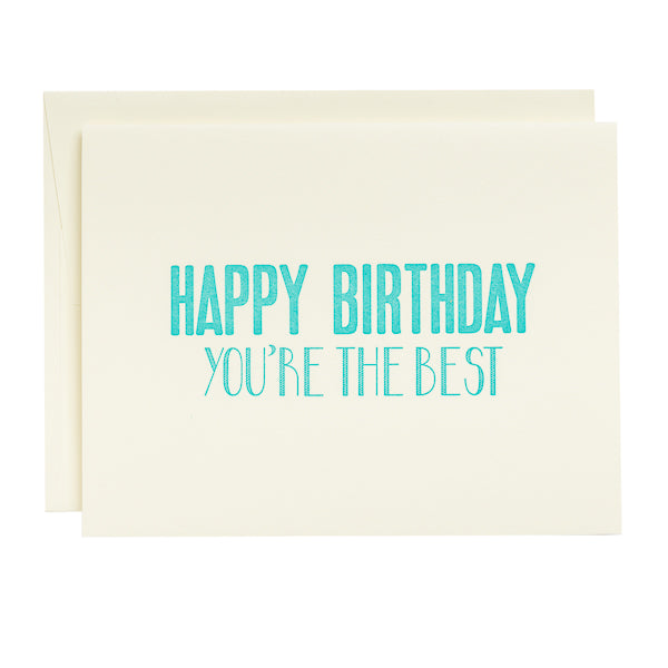Coffee n Cream Press, Happy Birthday letterpress card