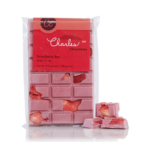 Charles Chocolates, Ruby Cacao Strawberry Bar