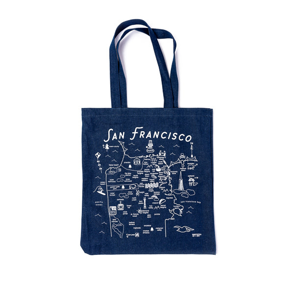 Maptote, Map of SF Denim Tote