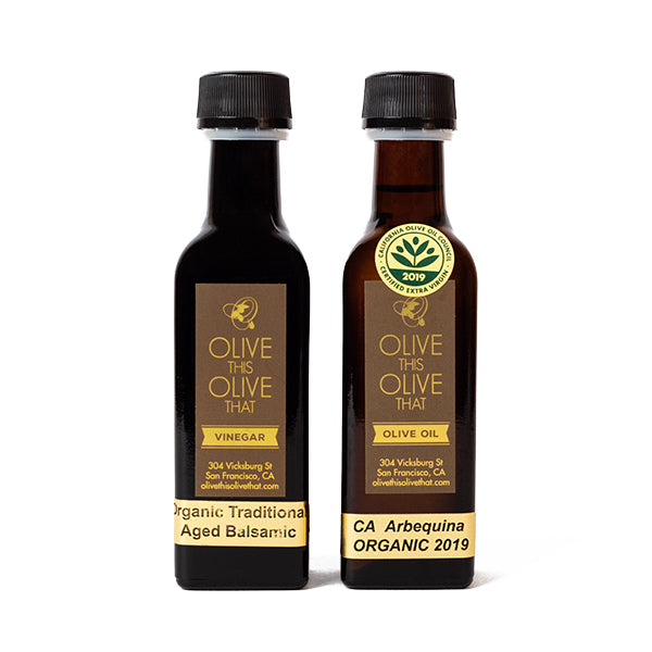 Olive This Olive That, Duo of Mini California Organic Olive Oil & Balsamic Vinegar