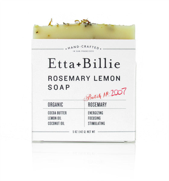 Etta + Billie, Rosemary Lemon Soap