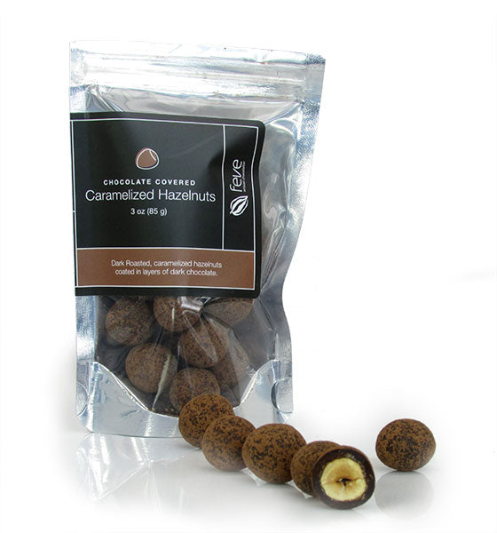 Feve Artisan Chocolatier, Dark Chocolate Covered Hazelnuts
