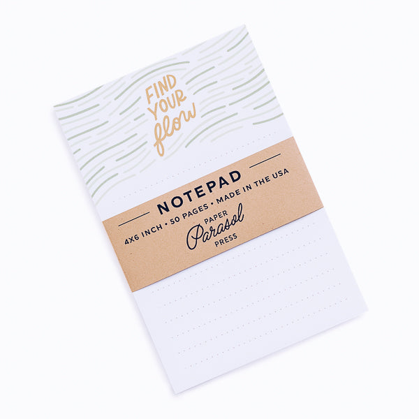Paper Parasol Press, Find Your Flow Notepad