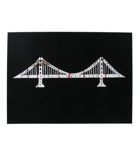 Granny Panty Designs, Golden Gate Bridge Card