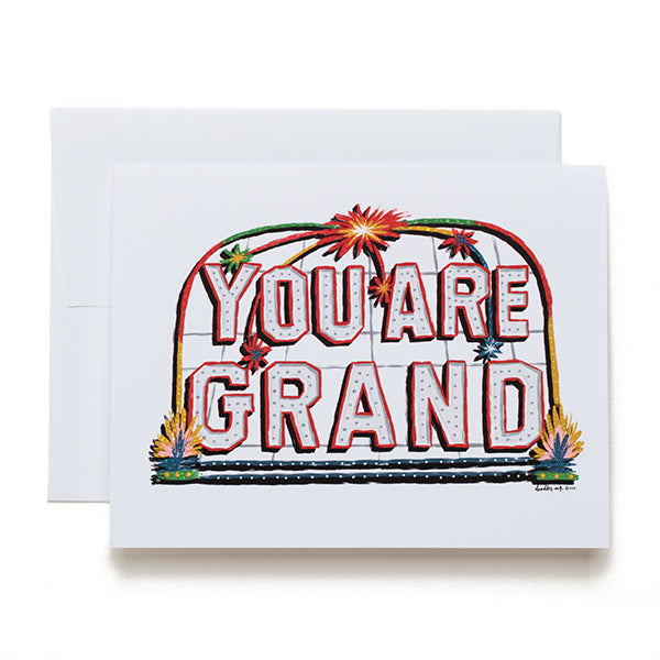 doodles.ink. You Are Grand card