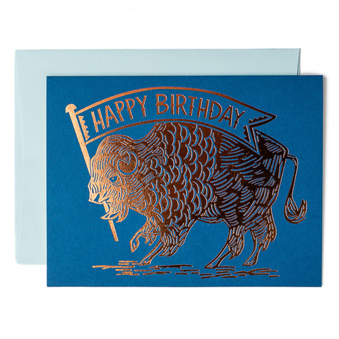 Paper Parasol Press, Happy Birthday copper foil card