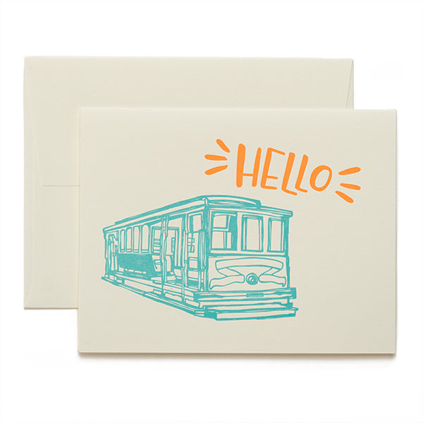 Coffee n Cream Press, Hello Letterpress Card