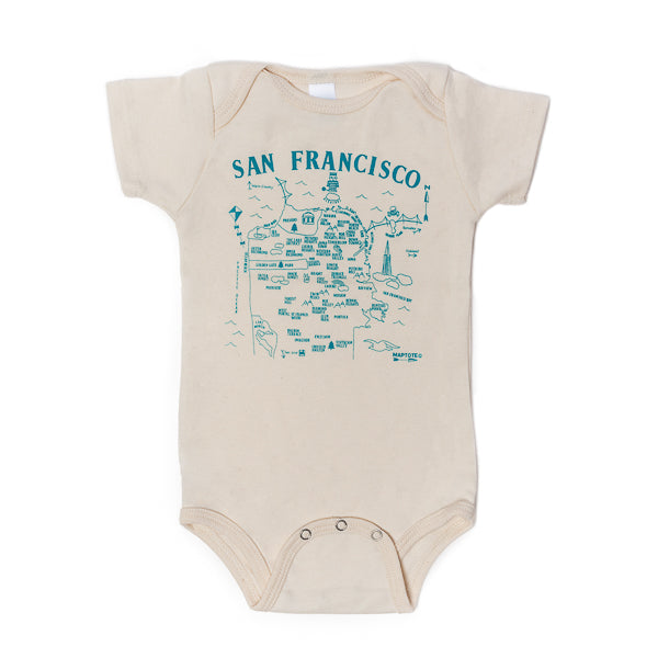 Maptote, San Francisco Map Onesie