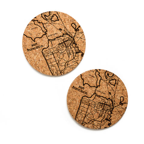 Well Told Design, Map of SF Cork Coaster Pair