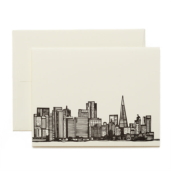 Coffee n Cream Press, San Francisco Skyline Letterpress Card
