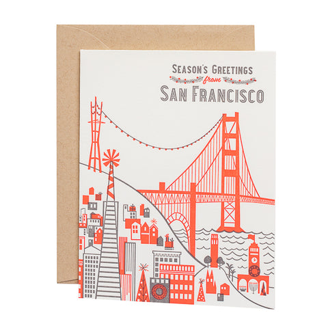 Paper Parasol Press, Season's Greetings from San Francisco card