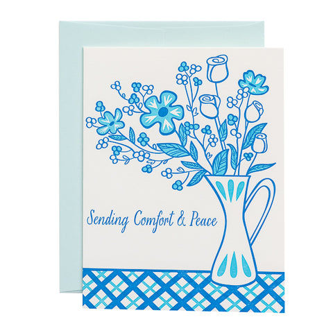 Paper Parasol Press, Sending Comfort & Peace card