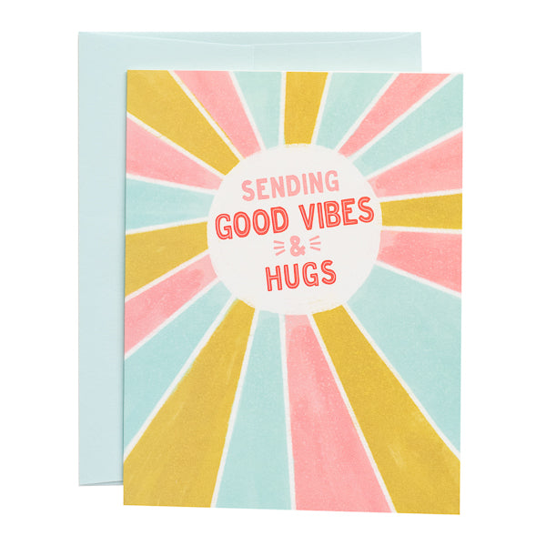 Paper Parasol Press, Sending Good Vibes & Hugs card